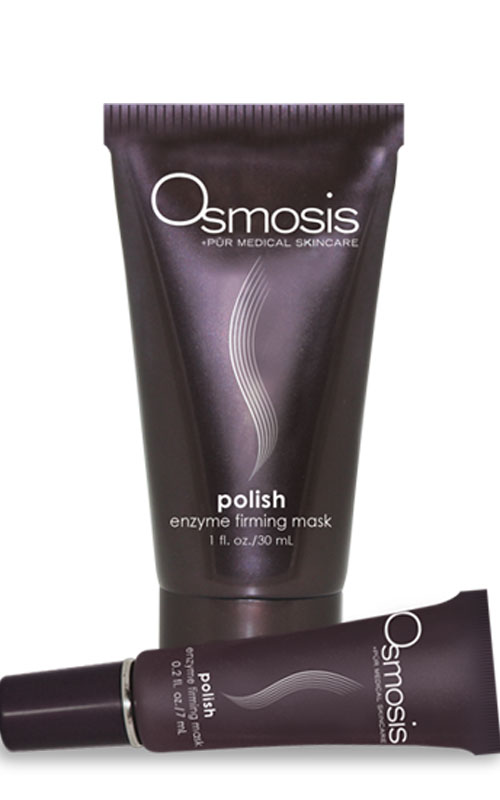 Osmosis Pur Medical Skincare Polish Enzyme Firming Mask is an exfoliating mask that smoothes the skin for a health apperance.
