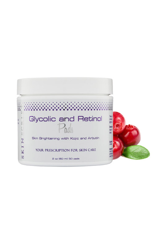 Skin Script Glycolic Retinol Pads are designed to gently and progressively renew the skin to brighten and clarify the skin.