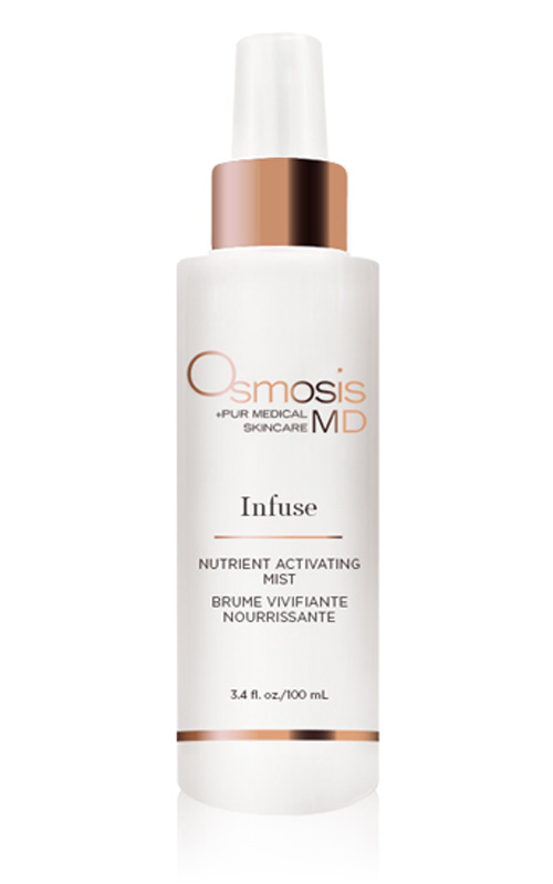 Osmosis Pur Medical Skincare MD Infuse Activating Mist works to purify and nourish the complexion, while penetrating product.