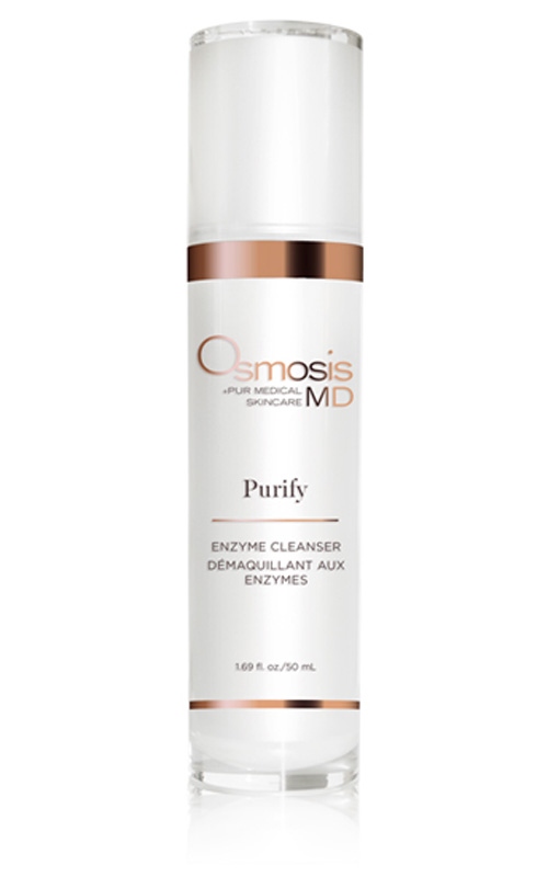 Osmosis Pur Medical Skincare MD Purify Enzyme Cleanser uses bromelain to gently remove dead skin while leaving skin hydrated.