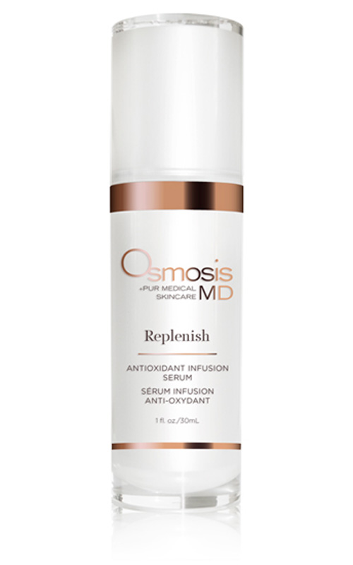 Osmosis Pur Medical Skincare MD Replenish has high antioxidants to help reduce the effects of sun damage