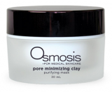 Osmosis Pur Medical Skincare MD Pore Minimizing Clay Mask is a non drying mask that detoxes impurities and absorbs excess oil