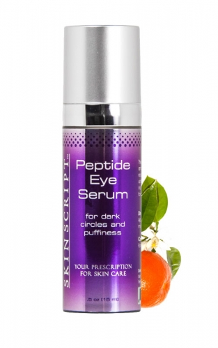 Skin Script Peptide Eye Serum refreshes the area by lightening dark circles, reducing wrinkles and stimulates circulation.