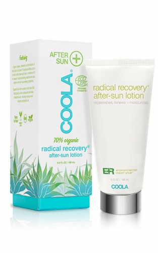 Coola Radical Recovery After Sun Lotion offers powerful antioxidents and soothing ingredients to sun kissed skin