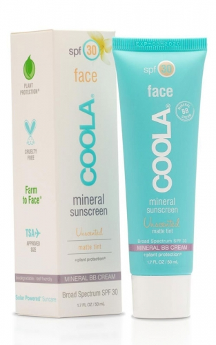 Coola Mineral Face SPF 30 Matte Tint Moisturizer is your daytime lotion and SPF in one and helps reduce shine.