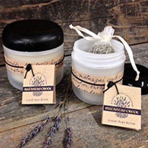 Matanzas Creek body butter uses highly emollient Shea Body Butter with the scent of lavender and tangerine.