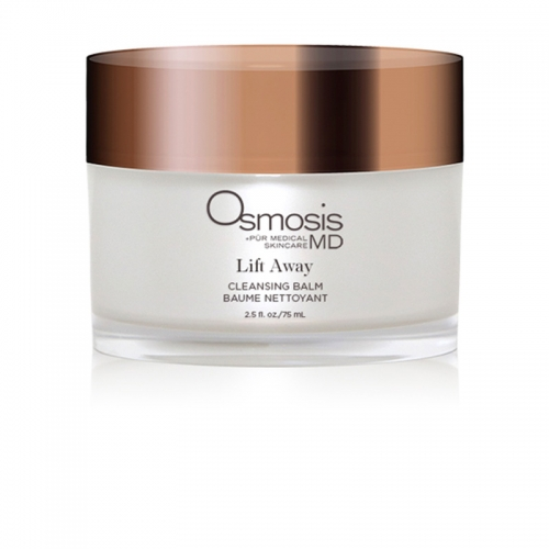 Osmosis Pur Medical Skincare MD Lift Away Cleansing Balm removes makeup and impurities without stripping your natural oils.