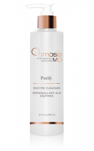 Osmosis Skincare MD Purify Enzyme Cleanser uses bromelain to gently remove dead skin while leaving skin hydrated.