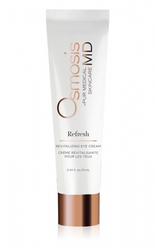 Osmosis Pur Medical Skincare MD Refresh Revitalizing Eye Cream deminishes fine lines, wrinkles, dark circles and puffness.