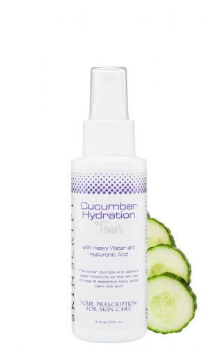 Skin Script Cucumber Hydration Toner hydrates the skin while improving cellular functions and absorption of ingredients